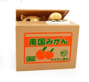 Mignon Itazura Tirelire Chat Panda Économisez Tirelires Chat Voler L'argent Tirelire Enfants Enfants Cadeaux De Noël