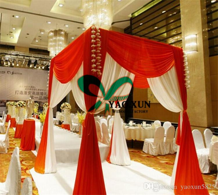 White And Red Color Pavilion Backdrop Curtain For Wedding Party
