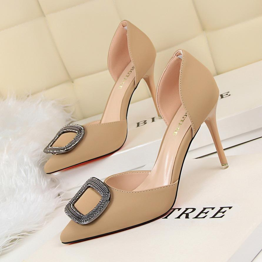 af0393ec2553c2 Golandstar Lady Dress Shoes Sexy Women Pumps Heels PU Leather ...