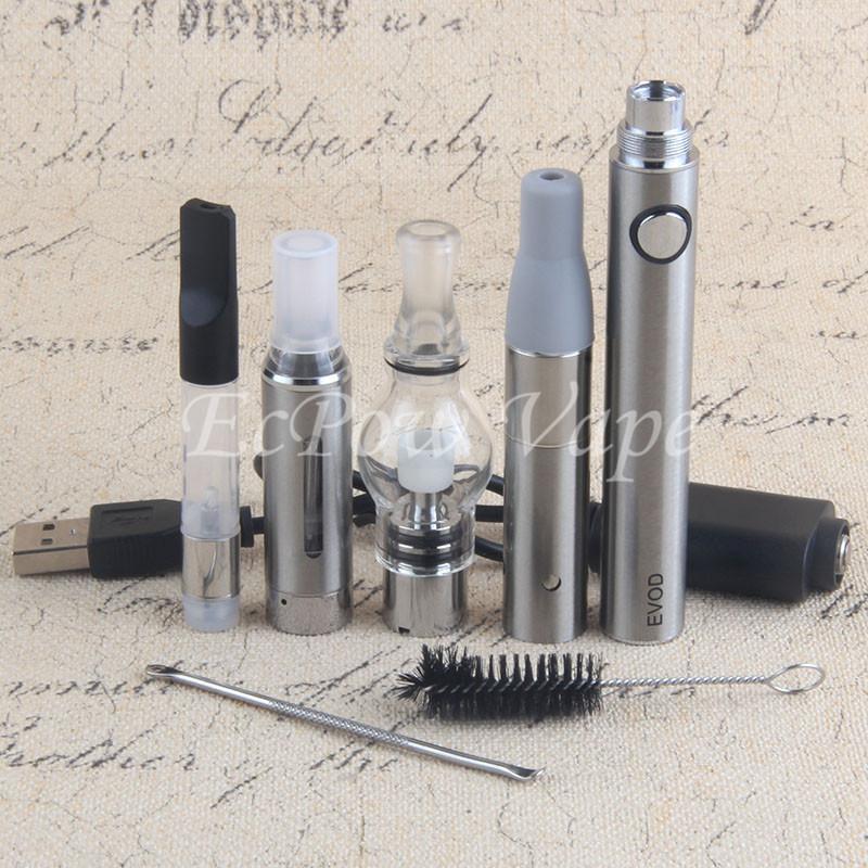 4in1 Buharlaştırıcı kiti vape kalemi dahil 510 yağ kartuşu mt3 eliquid küre cam balmumu önce kuru ot atomizörler hepsi 1 başlangıç kitleri