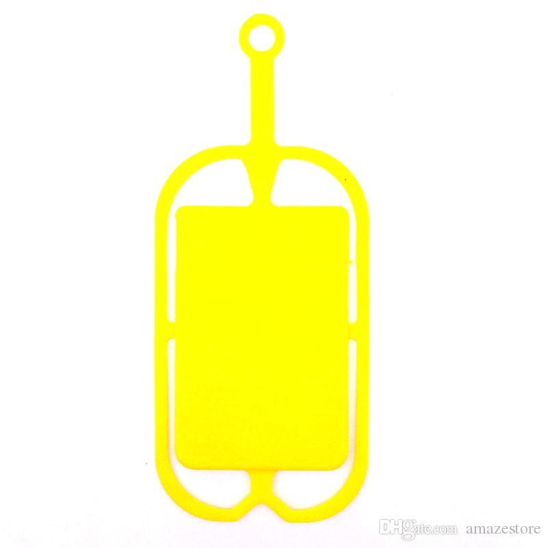 Universal Mobile Hybrid Case Housse en silicone souple avec long porte-carte pounch sangle lanière pour Black Berry Smart Phone