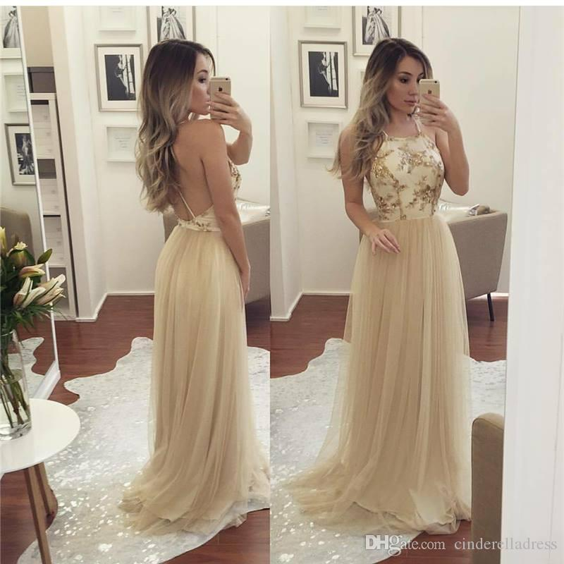 Halter Lace Prom Dress