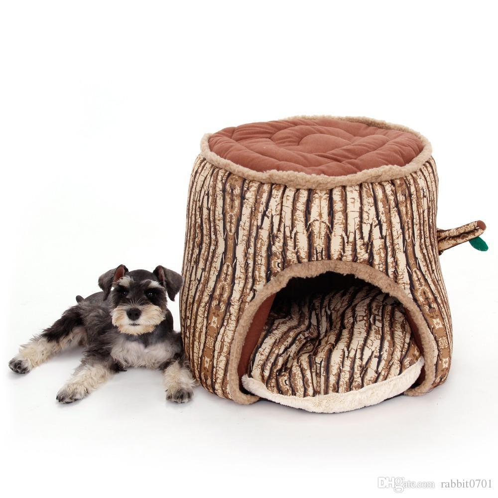 2017 Pet Dog Bed Doghouse Winter Warm Trees Shape Dog Kennel Soft