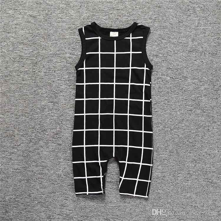 Baby Rompers INS Infant Toddlers Stripe Print Long Pants Onesies Jumpsuit Baby Boys Girls Sleeveless Climb Rompers 3 Styles