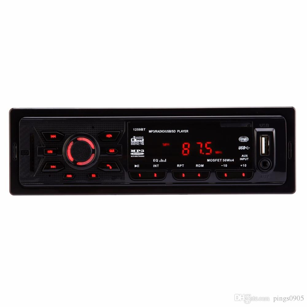 Bluetooth Autoradio Car Audio MP3 Player Handsfree Calls Car-styling 1 Din In-dash Digital Stereo FM Radio with Remote Control