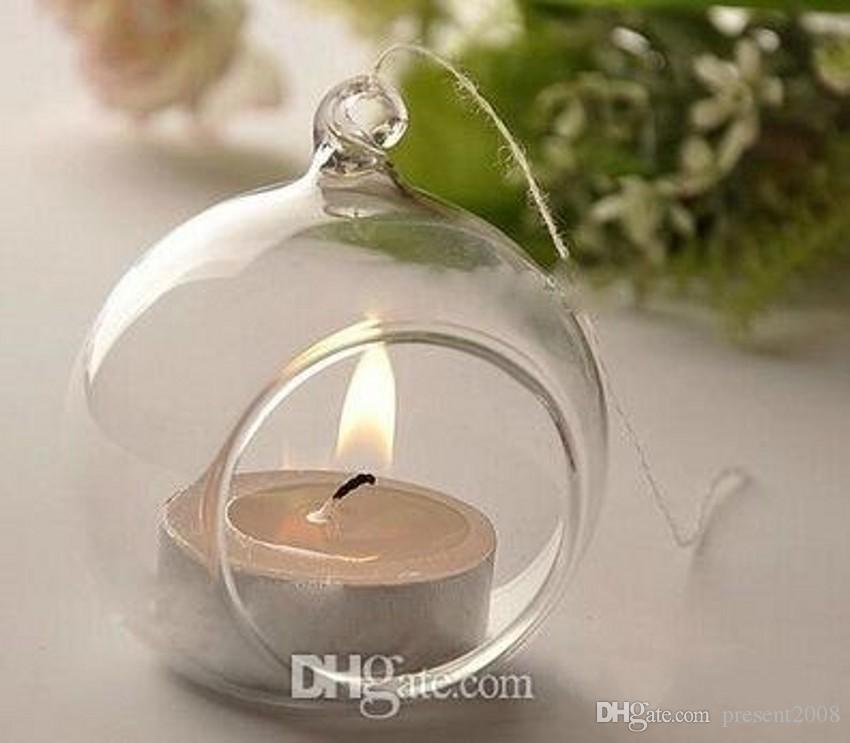 Hanging Holder Type candela sferica di vetro matrimonio decorazione fornire domestico Candela elettronico opzionale Glass Candlestick