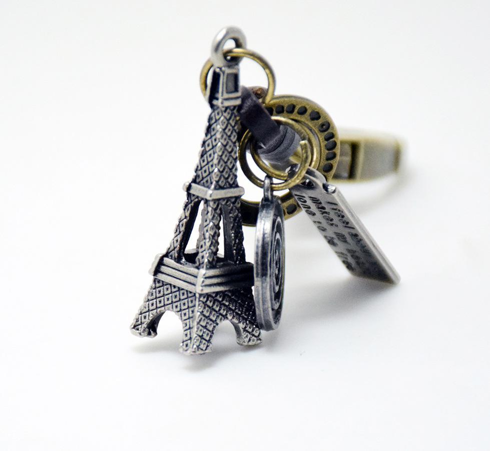 Unique Tour Tour Eiffel Porte-clés Mode Métal HandBag Pendentif Sac À Main Sac Boucle porte-clés titulaire Accessoires Cadeau
