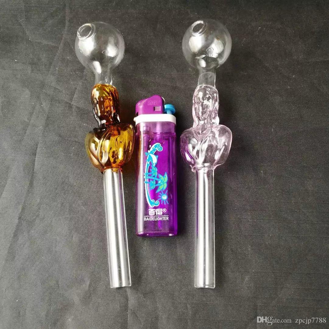 Droite femelle fumée pot bongs accessoires, unique brûleur à mazout En Verre Bongs Tuyaux Tuyaux D'eau En Verre Tuyau plates-formes D'huile de fumer avec compte-gouttes
