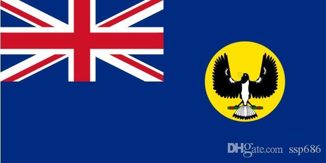 Güney Avustralya Bayrağı 3 mx 5 ft Polyester Banner Uçan 150 * 90cm Özel bayrak açık