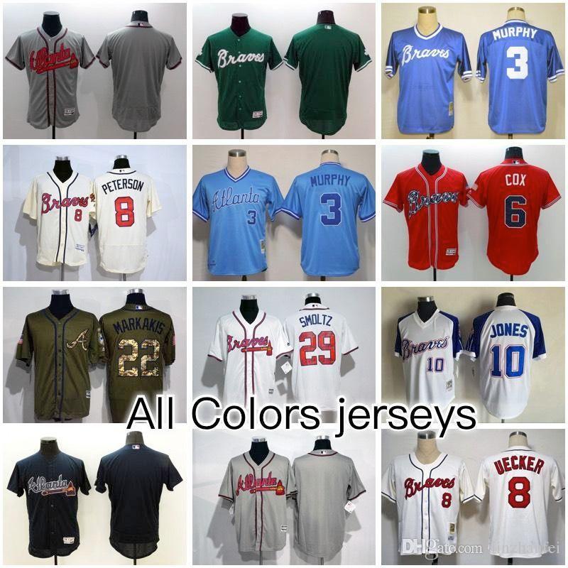 f3b979db2 ... throwback jersey; stitched mlb jersey 2017 atlanta braves all baseball  jerseys flex base jersey7 dansby swanson 5 freddie