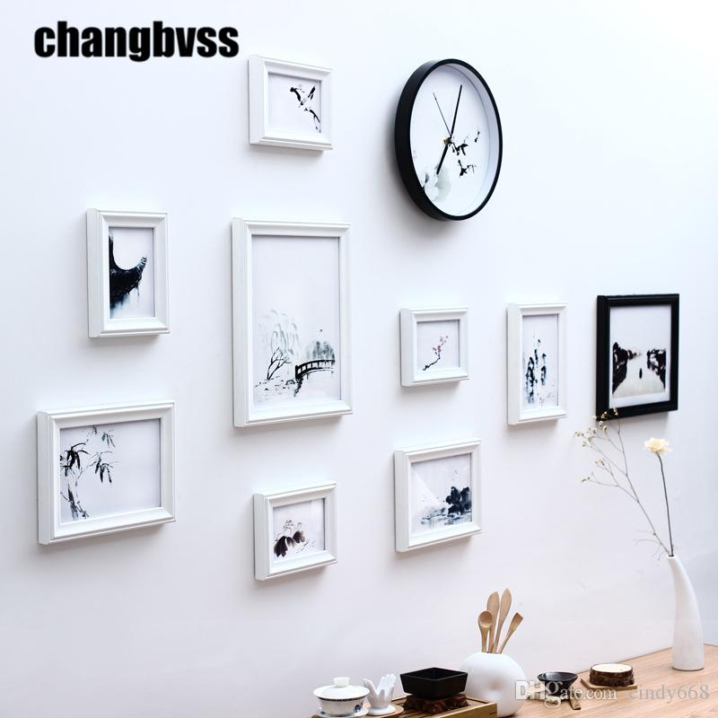 2018 Modern Simple Black/White Home Decor Photo Frame Wall With ...