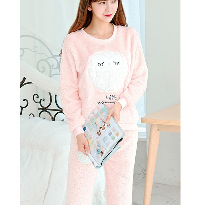 Wholesale Flannel Fleece Winter Animal Design Women Pajama Sets Pajamas  Pijama Pyjama Women Feminino Pijama Mujer Pijamas Entero Pyjamas UK 2019  From ... 1d511b80dc