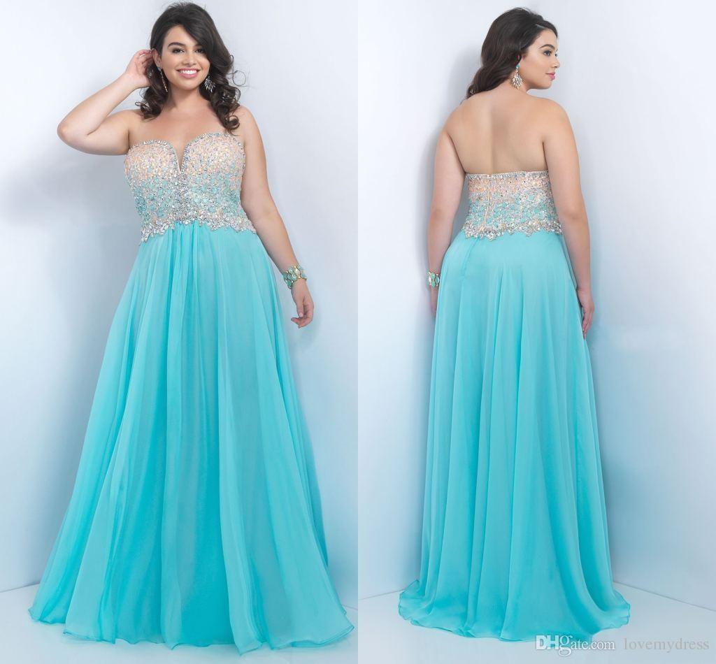 Plus Size Prom Dresses 2017 Crystas Elegante Bordare Paillettes Bling Abito lucido A buon mercato Piano Lunghezza Custom Made Abito da sera PLUS SIZE