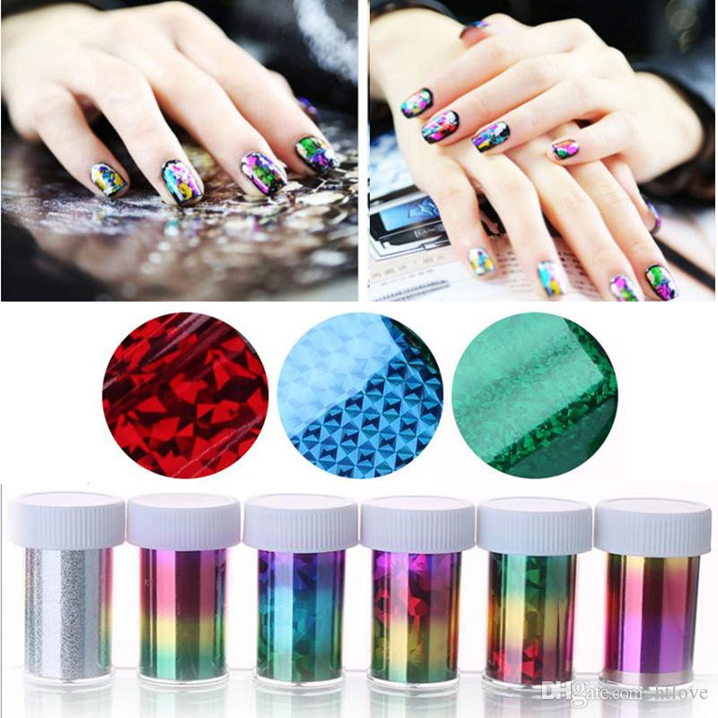 3cmx100cm Fashion Nail Art Transfer Foil Sticker 3d Nail Polish Star ...