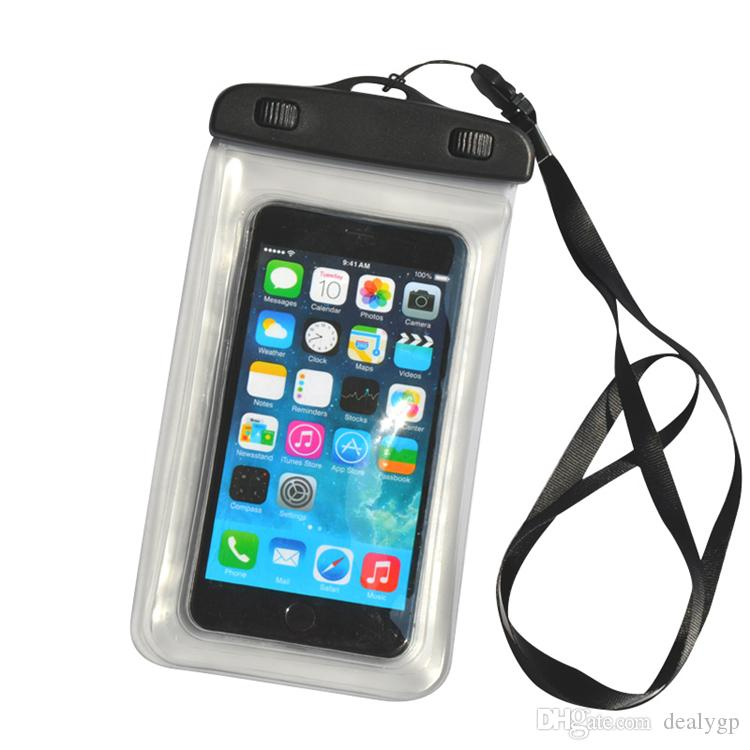 the latest aa965 3528c PVC Waterproof Dry Bag with Lanyard Underwater Swimming Transparent Cell  Phone Pouch Case for Iphone 7 plus