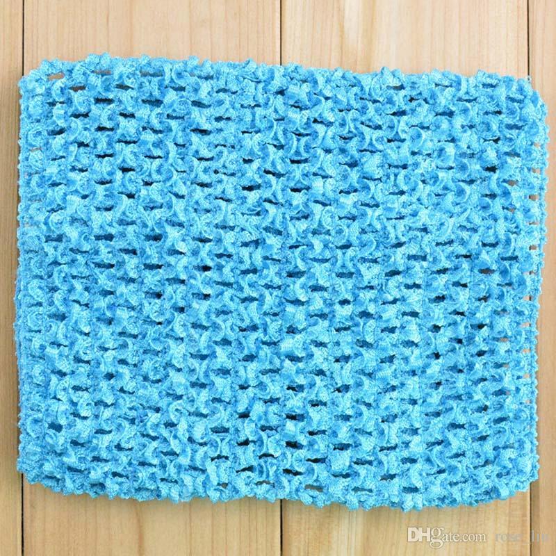 6 pollici Baby Girl Elastic Chest Wrap Infant Waffle Crochet Fascia Baby Rayon Tutu Tube Top Ragazza Hairband 15x15cm XT