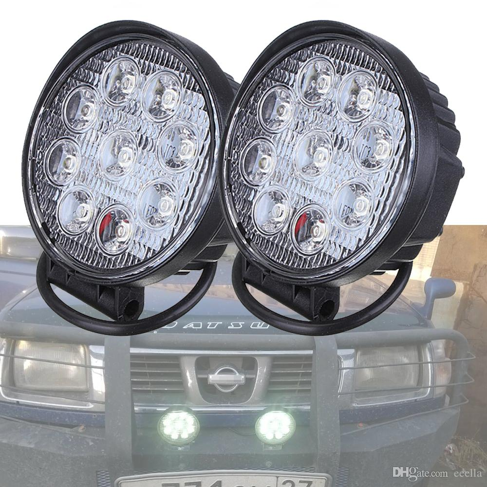 4 Inch 27W LED Work Light Indicators Driving Lamp Offroad Motorcycle Boat Car Tractor Truck 4x4 SUV ATV Fog Light