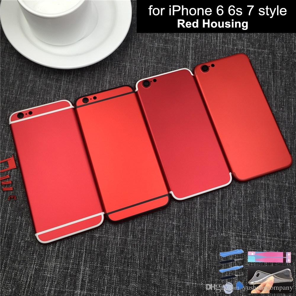 New 7 Style Housing For Iphone 6 6s Housing Metal Frame For Iphone 6 Plus 7  Mini Metal Frame With Imei Logo Red UK 2019 From Yushangcompany f58fcf992fa8