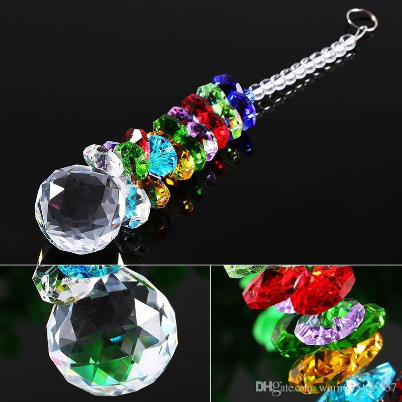 Lead K9 Crystal Ball Suncatcher Hanging Feng Shui Prisms Pendant Pendulum Window Decor 20mm W041