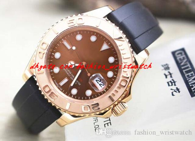 Fashion Luxury Men Watch 2017 Sapphire 18 k Rose Gold 116621-78801 Rubber Bracelet 40mm Automatic Mechanical Movement Men's Watch Watches
