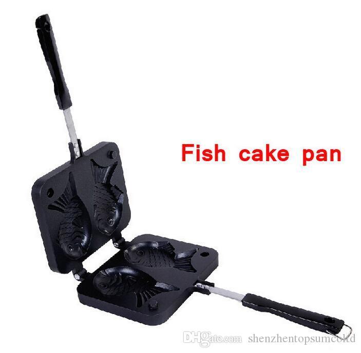Vendita calda antiaderente Friggitrice Pan Double Side Fish Cake Grill Fry Pan spedizione gratuita