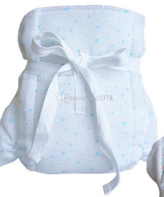 Jacquard Healthy Gauze Baby Cloth Diapers One Size Suitable 0-12 Months Washable Thicker Style White Color