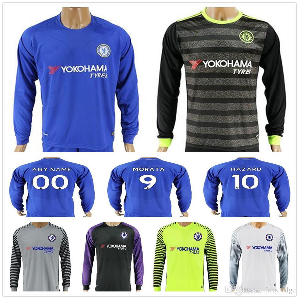 best website f58a1 8a368 new zealand chelsea 10 hazard away soccer club jersey 89f7a ...
