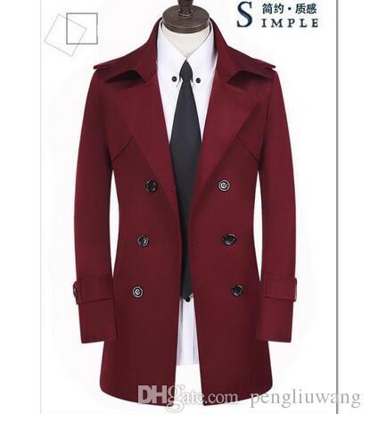 3b503ba013ec3 Spring Teenage Business Slim Sexy Trench Coat Men Overcoat Long Coat ...