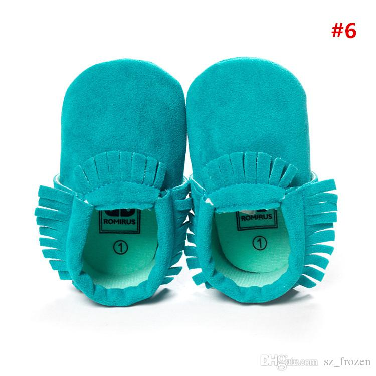 2017 Cow leather baby moccasins tassels boot booties moccs infant girl boy lace leather shoes prewalker booties toddlers shoes A-0486