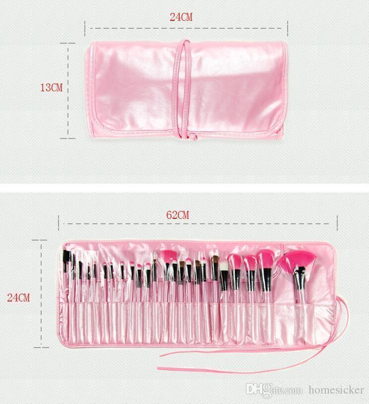 고품질 24 개 새로운 전문 메이크업 브랜드 화장품 화장품 브러시 세트 키트 양모 브러시 무료 배송