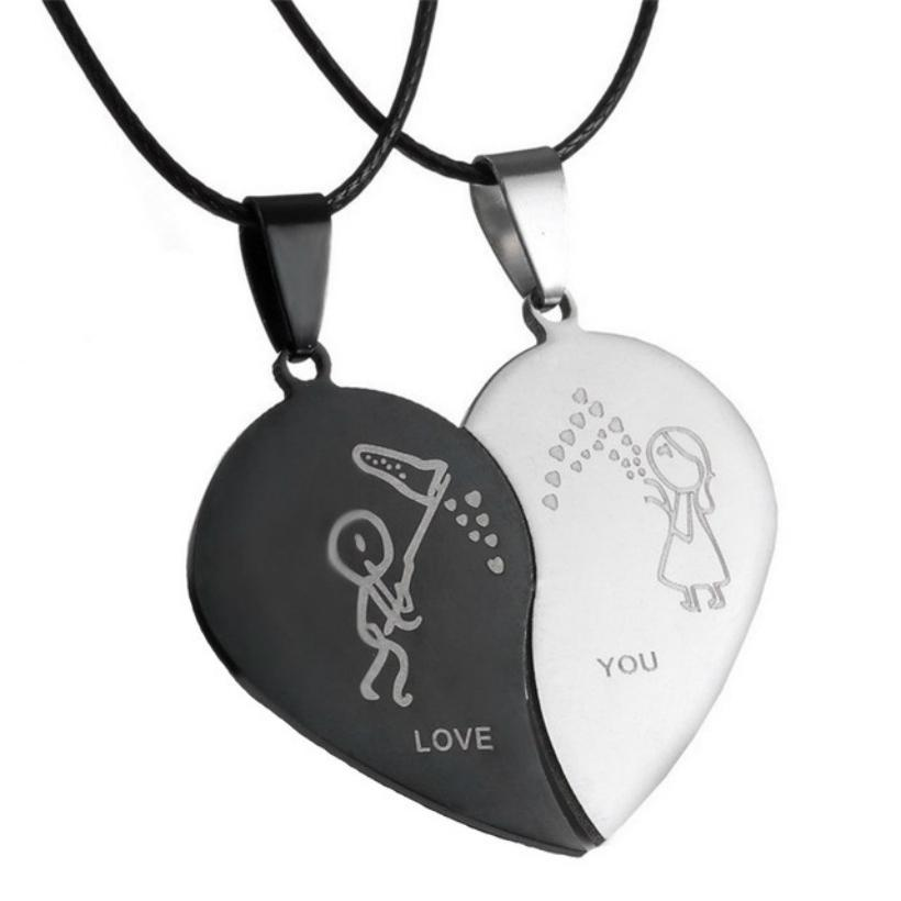 couple pendant onyx angel bunny necklace product