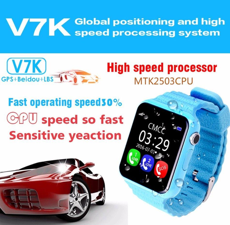 5d6eebae0e V7K Waterproof Kids GPS reloj inteligente para niños Reloj Anti-Perdido  seguro Relojes con cámara   facebook whatsapp Localización Dispositivo  Rastreador