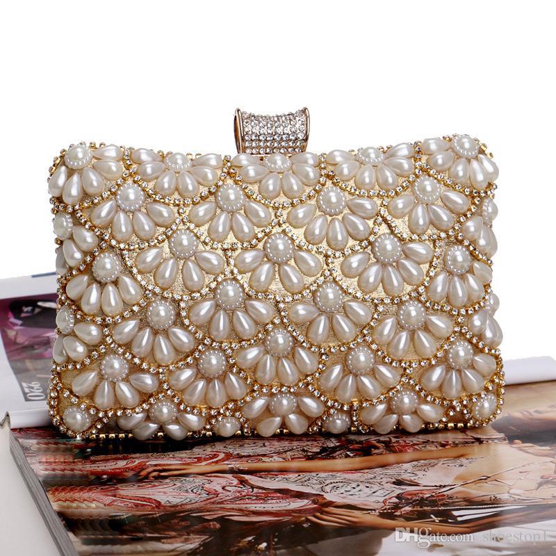 d6af89da6694 Womens Evening Clutch Bag Wedding Purse Bridal Prom Handbag Party Bag  Sparkling Handbag Beading Rhinestones Handbags Crystal Bags Black Handbags  Luxury Bags ...