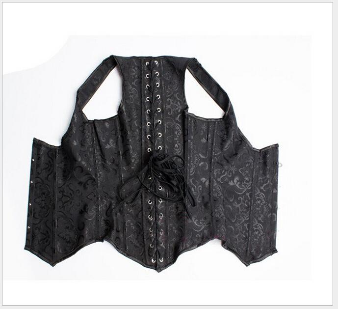High Quality Women Corset Top Vest Embroidery Gothic Clothing Sexy Black Corselet Plus Size 5XL 6XL H209