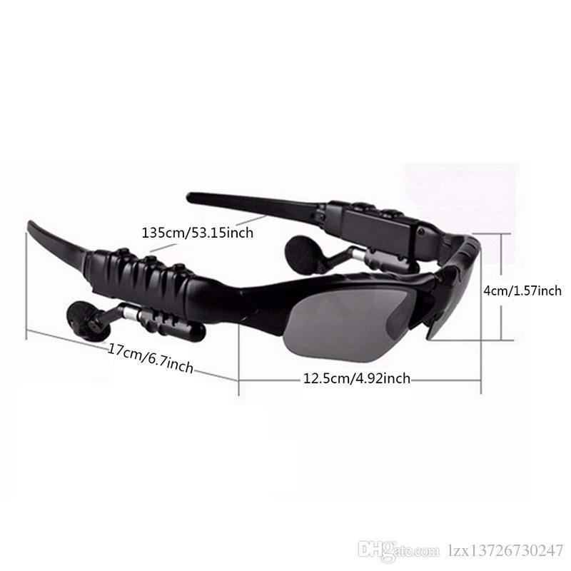 Новые солнцезащитные очки Bluetooth гарнитуры Беспроводные наушники Спорт Sunglass стерео гарнитура наушники mp3 музыкальный плеер с розничным пакетом