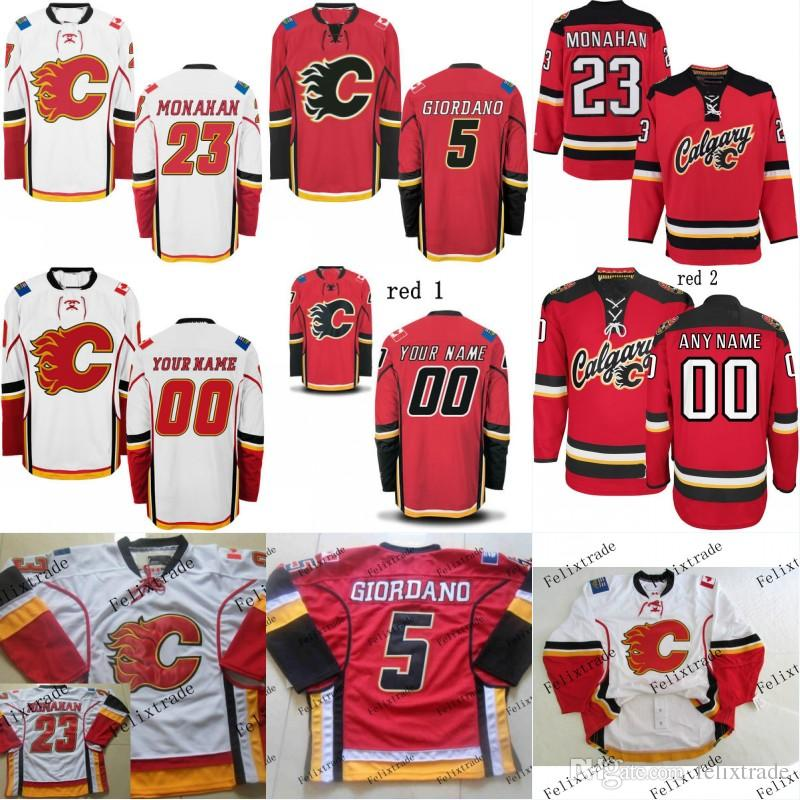 Mens Youth 2017 Calgary Flames Custom Jersey 26 Michael Stone 31 ... 1aef5226c