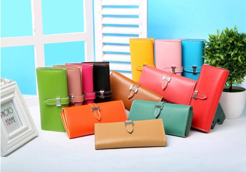 New Arrive 2017 Fashion Retro PU Leather Wallets Women Long Purse Clutch Casual Hasp Dollar Wallet Handbag Credit Cards Holder