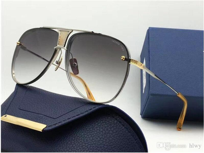 DECADE TWO limited edition luxury pilots fine metal new designers classic fashion lady brand sunglasses original packaging UV400