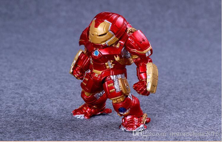 9CM The Avengers Captain America Thor Hulk Iron Man PVC Action Figure Collection Model Toys Dolls A17043054
