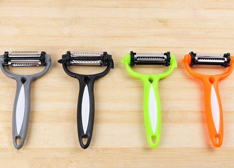 New Creative three-in-one Multifunctional 360 Degree Rotary peeled plane Kitchen Peeling tools practical Flaking machine IA786