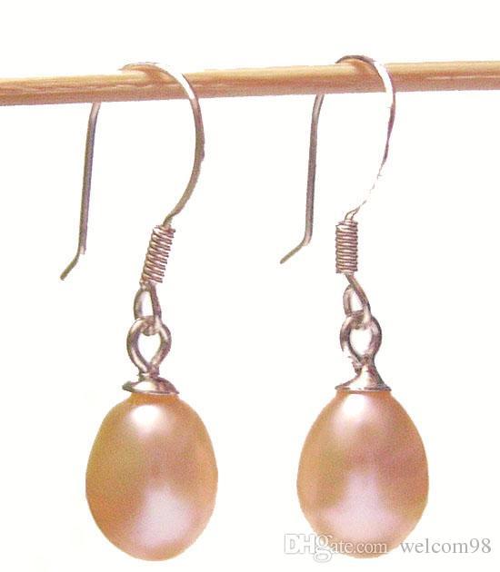 / parti rosa pärla örhängen silver krok dangle ljuskrona för kvinna mode present hantverk smycken c03 *