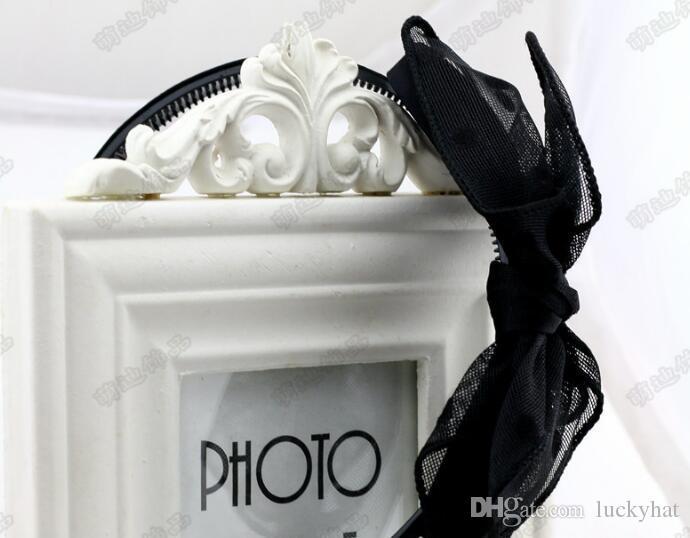 10 pz / lotto vendita calda mix donne moda femminile hairbands papillon knowbot dot fasce copricapo fit ragazze trucco con i denti gioielli drop nave