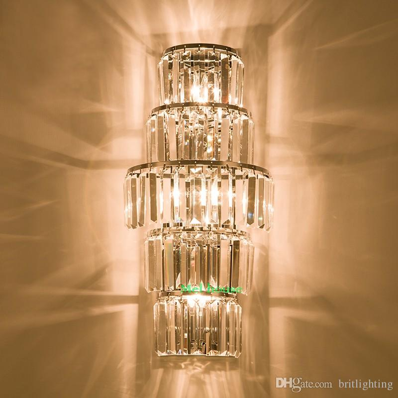 Lodge Foyer Lighting : Hotel lobby crystal wall lamp project villa