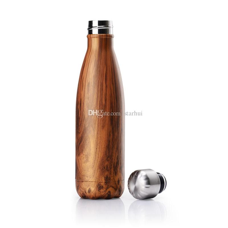 HOT Water Cup Mug Insulation Cup 500ML Sports Stainless Steel Cola Bowling Shape Travel Mugs Vacuum Bottle Cup Free DHL WX-C17