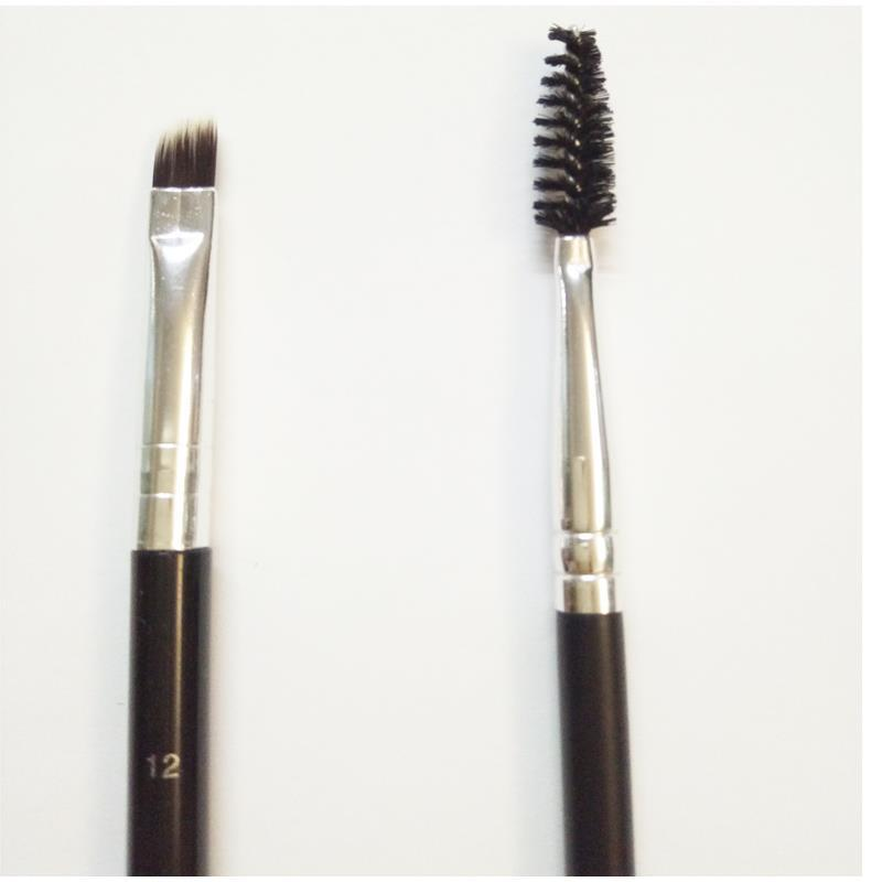 eyebrow makeup tools. brow brushes pomade face makeup brush 12# 7# duo eyelash comb angled cut eyebrow tools r