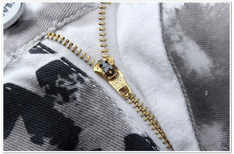 Jeans da uomo di design di moda uomo caldo denim famoso marchio con ali bandiera americana più dimensioni