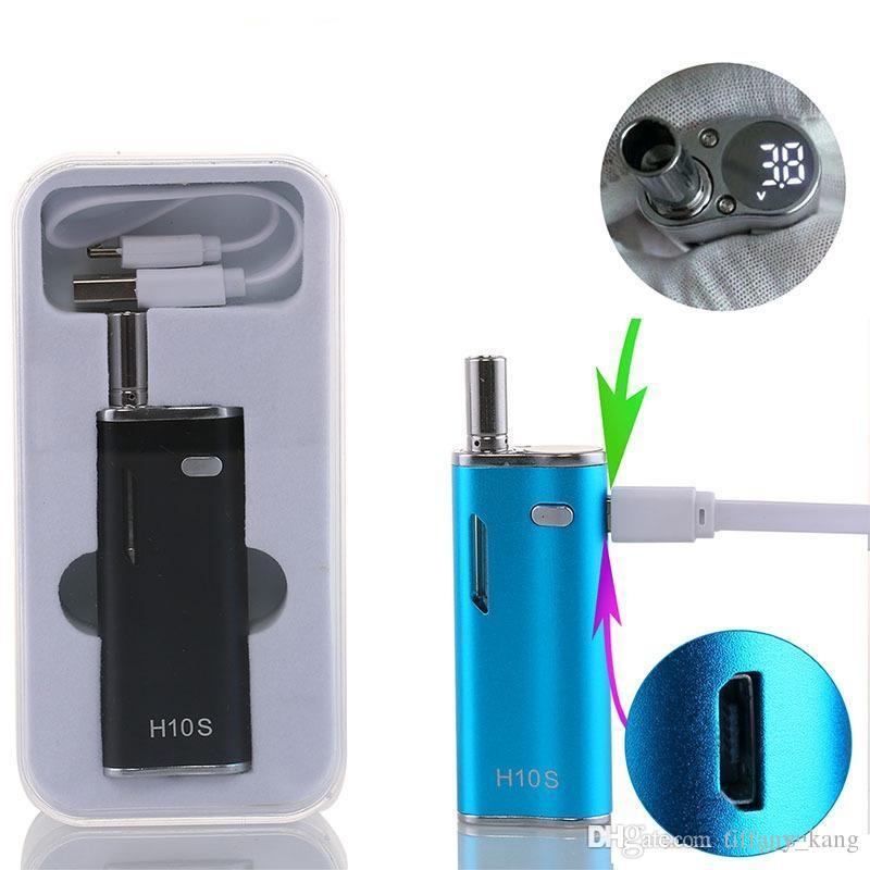 Original H10S Starter Kit 650mAh Preheating Variable Voltage Vape Pen with LED Screen Magnetic Oil Cartridge Vaporizer Box Mod E cigs