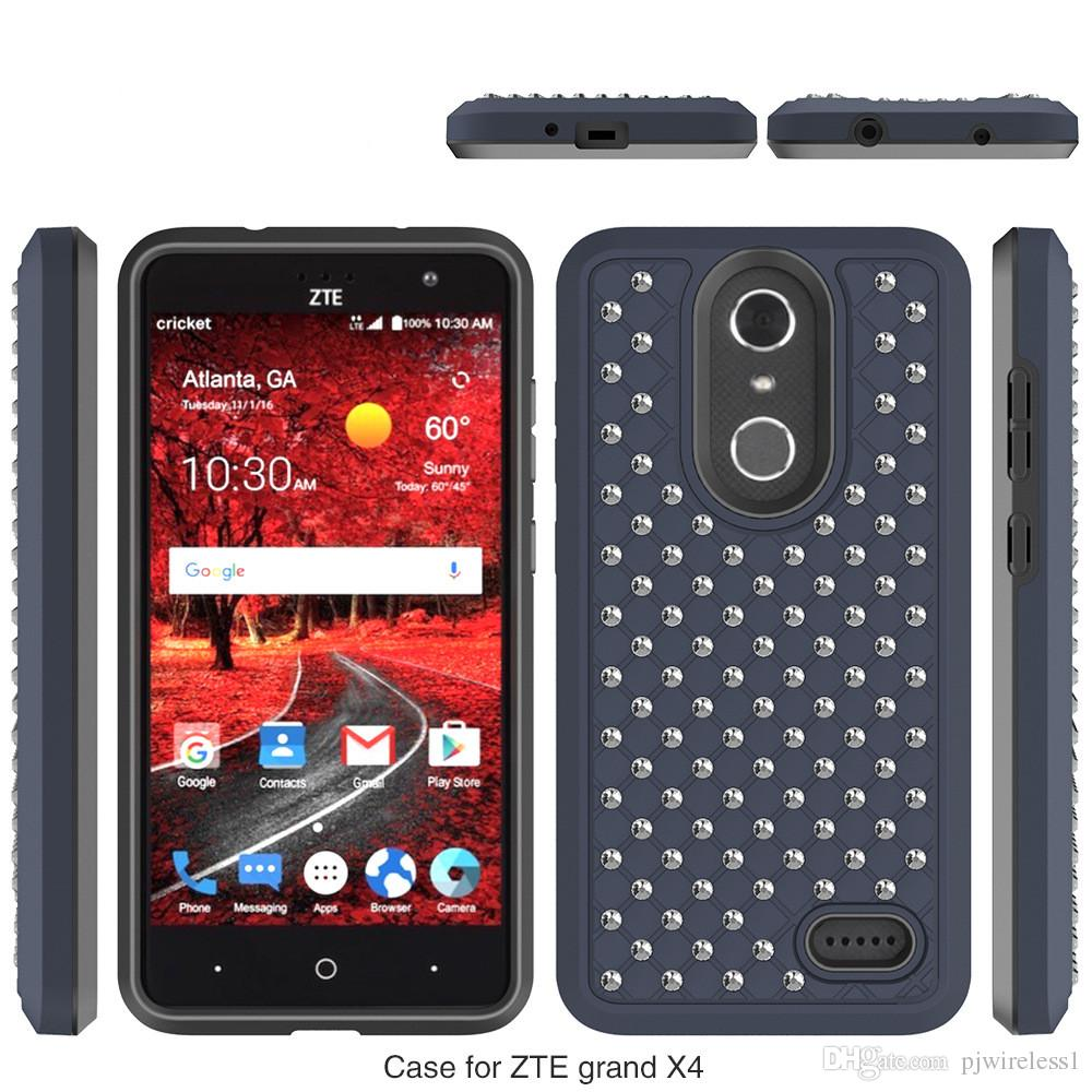 huge selection of 61205 80b99 For ZTE Grand X4 Z956 Super Diamond rhinestone Bling Armor Hybrid Cover  Phone Case Silicone PC Anti-shock Dirt-resistant 100% Fitted