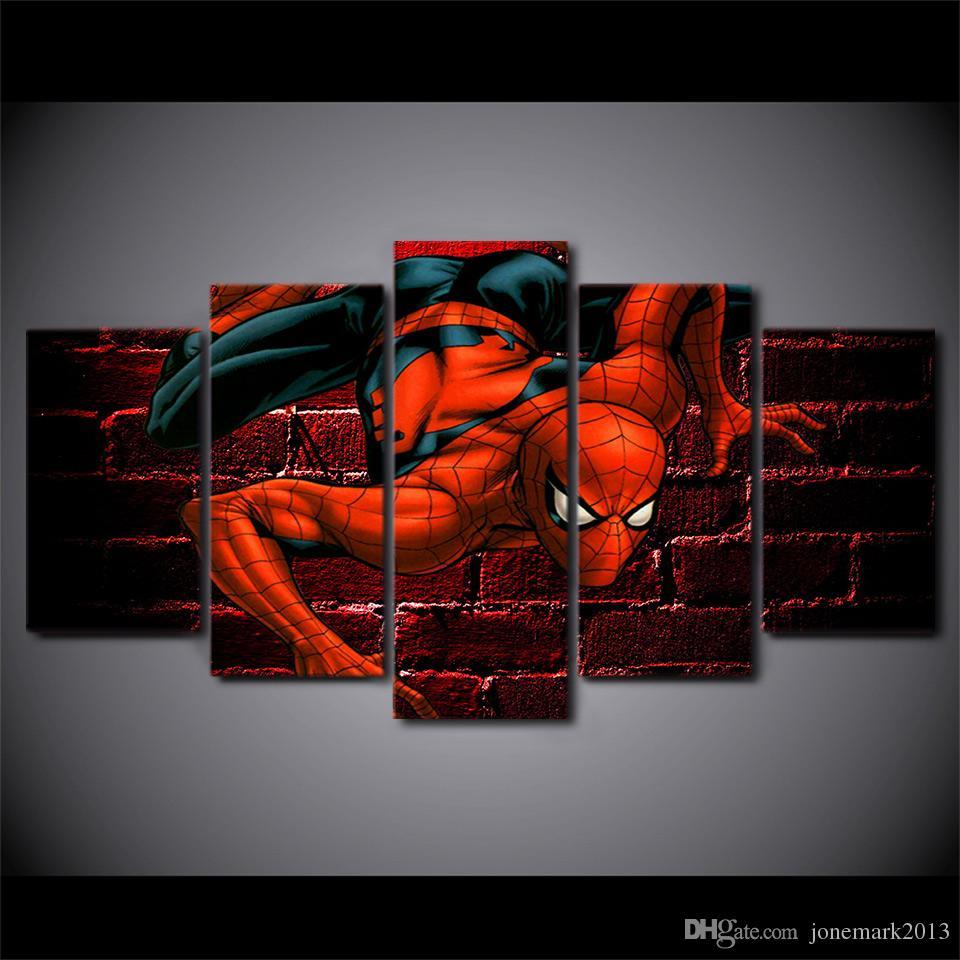 / Set Encadré HD Imprimé Spiderman Comics Peinture Toile Impression chambre décor imprimer affiche photo toile Livraison gratuite / ny-3052