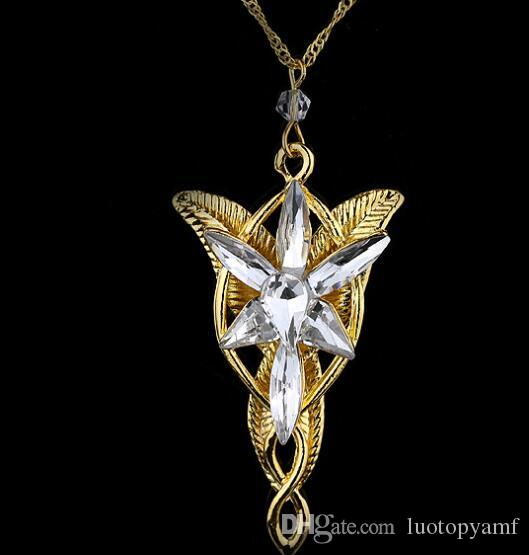 Wholesale hot sales lotr lord of the rings elf princess arwen wholesale hot sales lotr lord of the rings elf princess arwen evenstar pendants twilight elves princess silver plated pendant neck cosplay jewelry pendants aloadofball Images